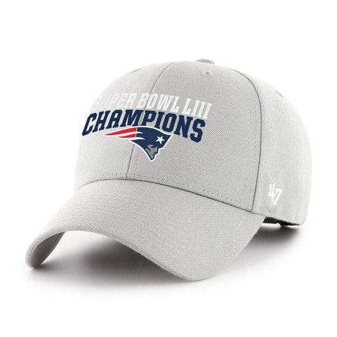 Shop New England Patriots 2018-2019 Super Bowl LIII Champions Gray MVP Adj Hat Cap
