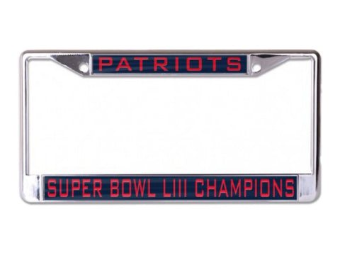 Shop New England Patriots 2018-2019 Super Bowl LIII Champs Inlaid License Plate Frame