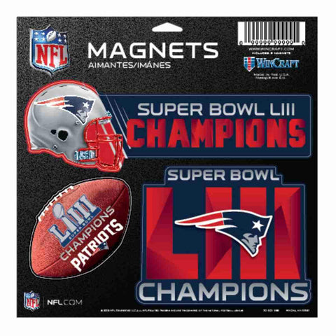Shop New England Patriots 2018-2019 Super Bowl LIII Champions Magnet Sheet (3 Pack)