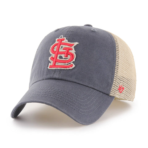 St. Louis Cardinals '47 Vintage Navy Rayburn Franchise Mesh Slouch Fitted Hat Cap