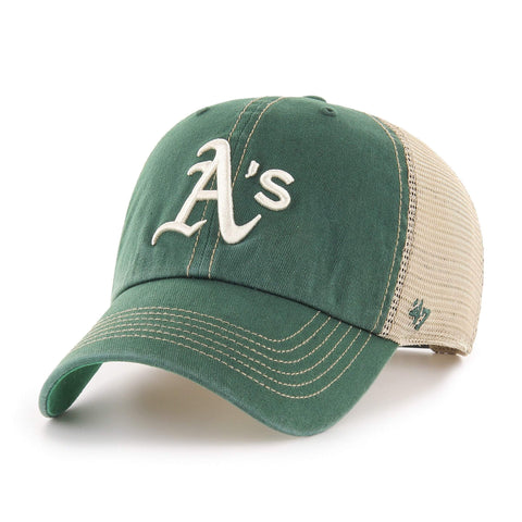 Oakland Athletics '47 Dark Green Trawler Clean Up Mesh Snapback Slouch Hat Cap