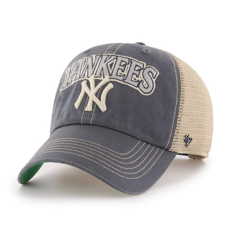 New York Yankees '47 Vintage Navy Tuscaloosa Clean Up Mesh Adj. Slouch Hat Cap