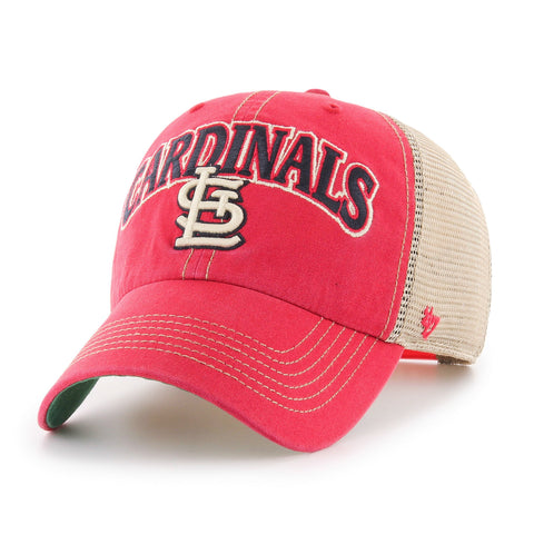 St. Louis Cardinals '47 Red Tuscaloosa Clean Up Mesh Snapback Slouch Hat Cap