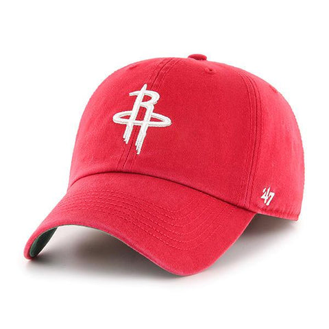 Houston Rockets '47 Red Clean Up Adjustable Strapback Slouch Relax Fit Hat Cap - Sporting Up