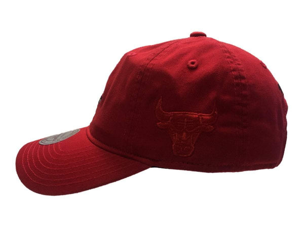 6c03709e Chicago Bulls NBA Mitchell & Ness Red Elements Slouch Strapback Dad Hat Cap  |