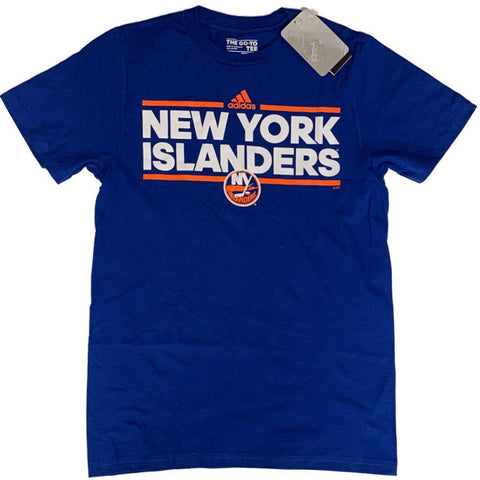 "New York Islanders NHL Adidas Blue ""The Go-To"" 100% Cotton Short Sleeve T-Shirt"