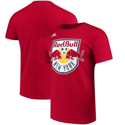 "New York Red Bulls MLS Adidas Red ""The Go-To"" 100% Cotton Short Sleeve T-Shirt"