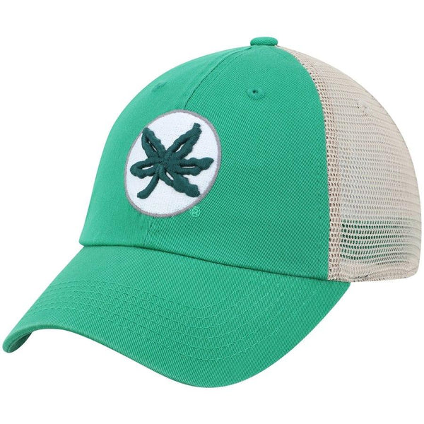 bba7cfcb34a Ohio State Buckeyes TOW Green St. Patrick s Day Tan Mesh Adj. Slouch Hat Cap