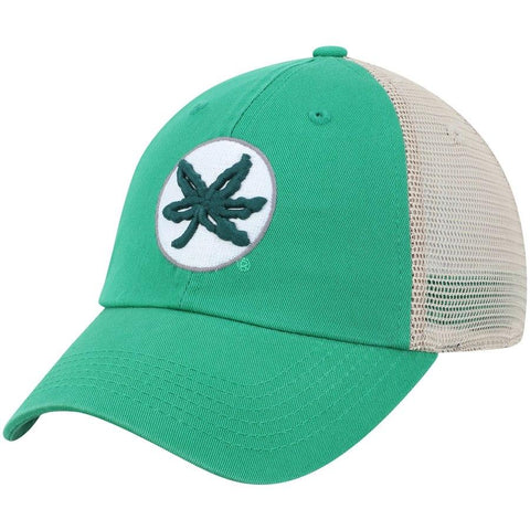 Shop Ohio State Buckeyes TOW Green St. Patrick's Day Tan Mesh Adj. Slouch Hat Cap