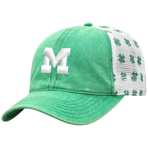 Michigan Wolverines Zephyr Oxford Structured Stretch Fit Fitted Hat Cap