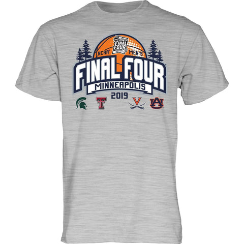 2019 NCAA Final Four March Madness Minneapolis Men's Basketball Gray T-Shirt