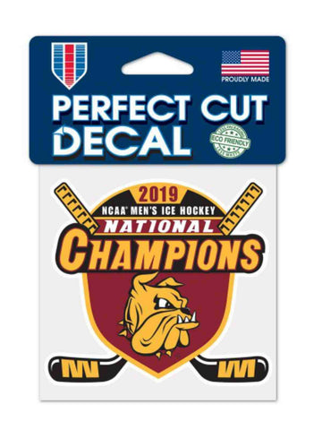 Minnesota Duluth Bulldogs 2019 NCAA Frozen Four Champions Perfect Cut Decal
