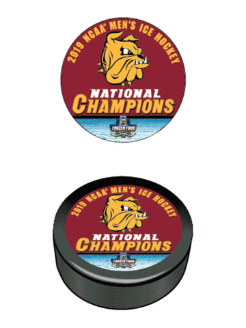 Minnesota Duluth Bulldogs 2019 NCAA Men's Frozen Four Champions Hockey Puck