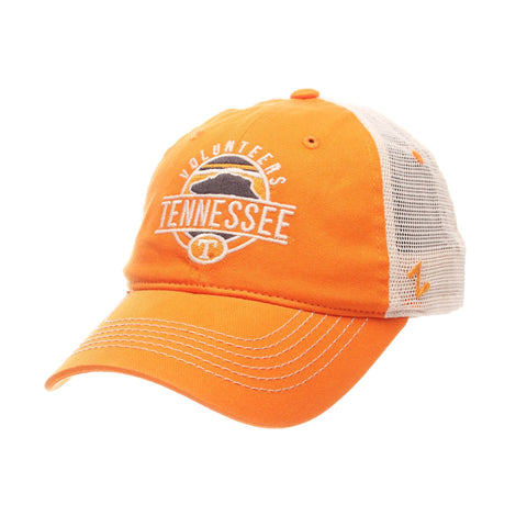 "Tennessee Volunteers Zephyr ""Memorial"" The Rock Logo Mesh Adj. Relax Fit Hat Cap"