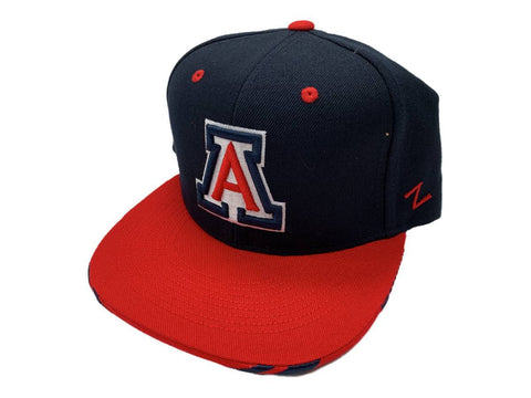 Arizona Wildcats Zephyr Navy & Red Structured Snapback Flat Bill Hat Cap