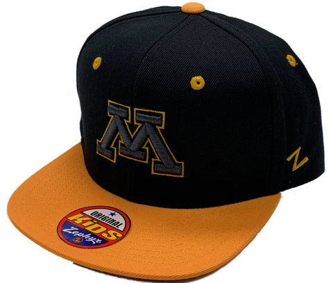 Minnesota Golden Gophers Zephyr YOUTH Kids Structured Snapback Flat Bill Hat Cap