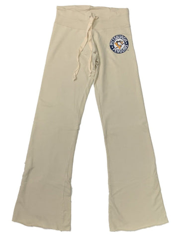 Pittsburgh Penguins Retro Brand WOMEN'S Ivory Raw Edge Drawstring Sweatpants