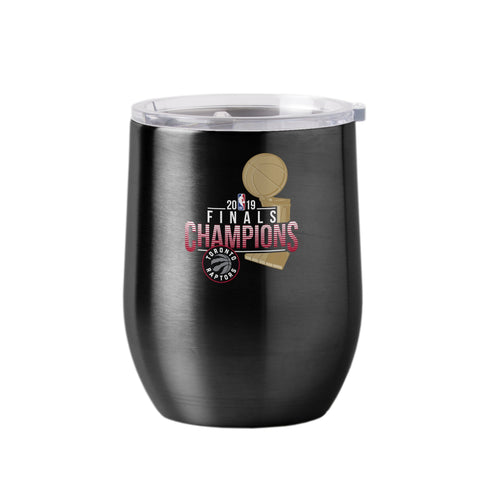 Toronto Raptors 2019 NBA Finals Champions Black Wine Glass Ultra Tumbler