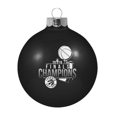 Toronto Raptors 2019  Finals Champions Black Glass Ball Christmas Ornament