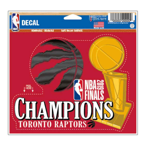 "Toronto Raptors 2019 Finals Champions WinCraft Multi-Use Decal (4.5""x5.75"")"