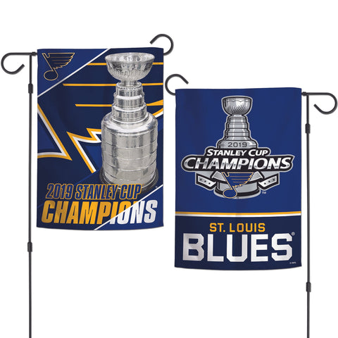St. Louis Blues 2019 Stanley Cup Champions WinCraft Team Colors Garden Flag