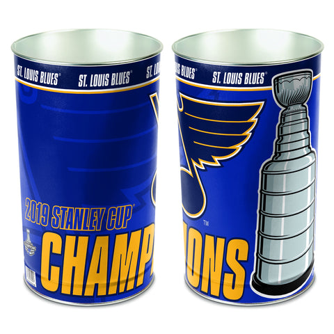 St. Louis Blues 2019 Stanley Cup Champions WinCraft Wastebasket Trash Can