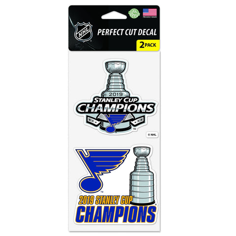 St. Louis Blues 2019 Stanley Cup Champions WinCraft Perfect Cut Decal Set (2 PK)