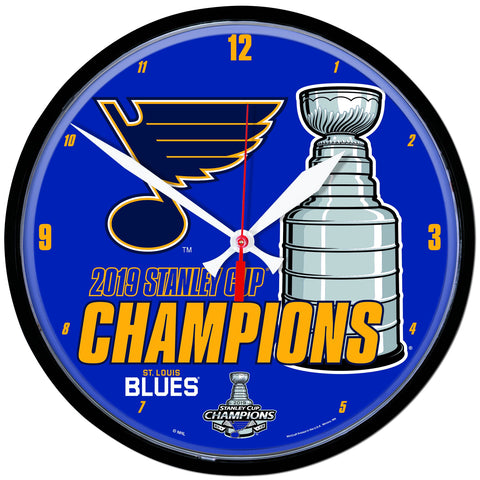 St. Louis Blues 2019 Stanley Cup Champions WinCraft Round Wall Clock