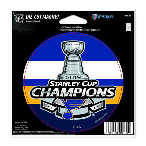 "St. Louis Blues 2019 Stanley Cup Champions WinCraft Die Cut Magnet (5""x5.25"")"