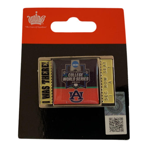 "Auburn Tigers 2019 NCAA Men's College World Series CWS ""I WAS THERE"" Pin"