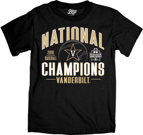 Shop Vanderbilt Commodores 2019 College World Series CWS Champions T-Shirt - Sporting Up