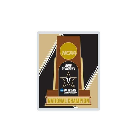 Vanderbilt Commodores 2019 Men's College World Series CWS Champions Trophy Pin - Sporting Up