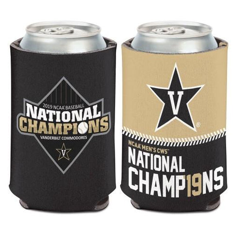 Vanderbilt Commodores 2019 Men's College World Series CWS Champions Can Cooler