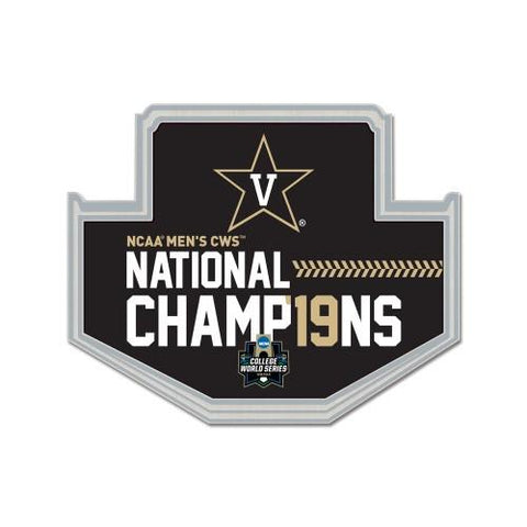 Vanderbilt Commodores 2019 Men's College World Series CWS Champions Lapel Pin