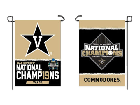 Vanderbilt Commodores 2019 Men's College World Series CWS Champions Garden Flag