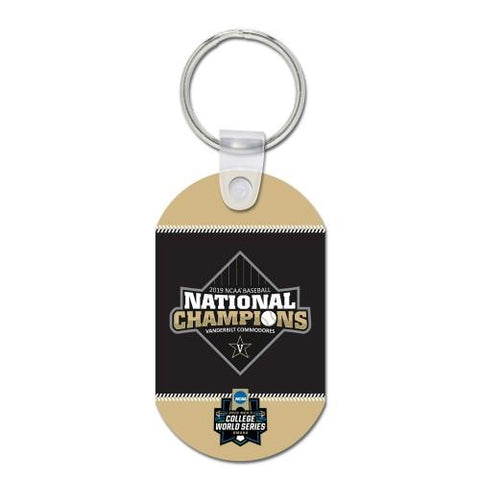 Vanderbilt Commodores 2019 Men's College World Series CWS Champions Keychain