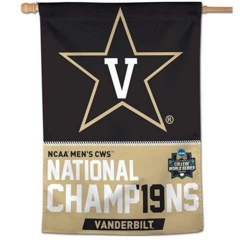 Vanderbilt Commodores 2019 College World Series CWS Champions Vertical Flag