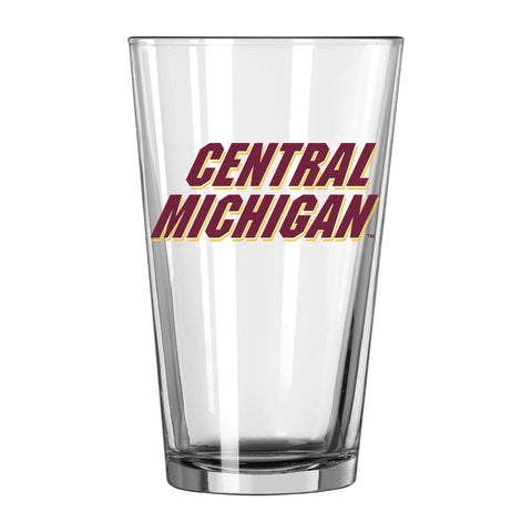Central Michigan Chippewas NCAA Boelter Brands Clear Pint Glass (16oz) - Sporting Up