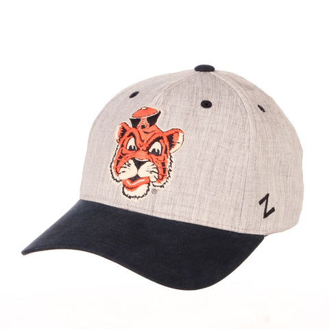 "Auburn Tigers Zephyr ""Oxford"" Structured Stretch Fit Fitted Hat Cap"
