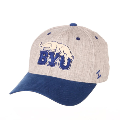 "BYU Cougars Zephyr ""Oxford"" Structured Stretch Fit Fitted Hat Cap"