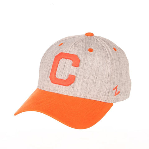 "Clemson Tigers Zephyr ""Oxford"" Structured Stretch Fit Fitted Hat Cap"