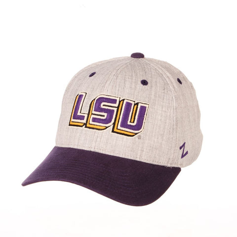"Shop LSU Tigers Zephyr ""Oxford"" Structured Stretch Fit Fitted Hat Cap"