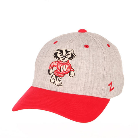 "Wisconsin Badgers Zephyr ""Oxford"" Structured Stretch Fit Fitted Hat Cap"