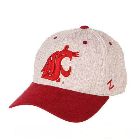 "Washington State Cougars Zephyr ""Oxford"" Structured Stretch Fit Fitted Hat Cap"