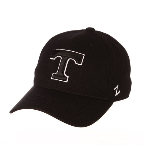 "Tennessee Volunteers Zephyr ""ZH Black"" Structured Stretch Fit Fitted Hat Cap"