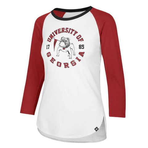 "Georgia Bulldogs '47 WOMEN'S Vintage ""Knockaround Splitter"" Raglan T-Shirt"