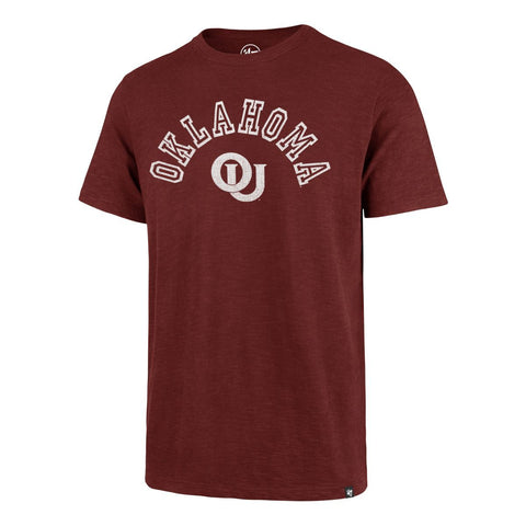 "Oklahoma Sooners '47 Vintage Cardinal Red ""Landmark"" Scrum T-Shirt - Sporting Up"