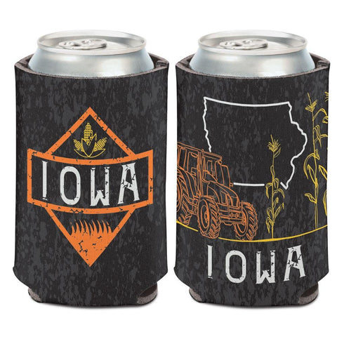 Iowa Farming Tractor & Corn Fields WinCraft Neoprene Drink Can Cooler