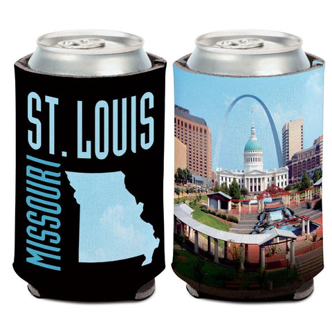 St. Louis Missouri Old Courthouse & Arch WinCraft Neoprene Drink Can Cooler