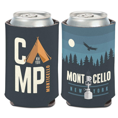 Camp Monticello New York Tent & Trees WinCraft Neoprene Drink Can Cooler